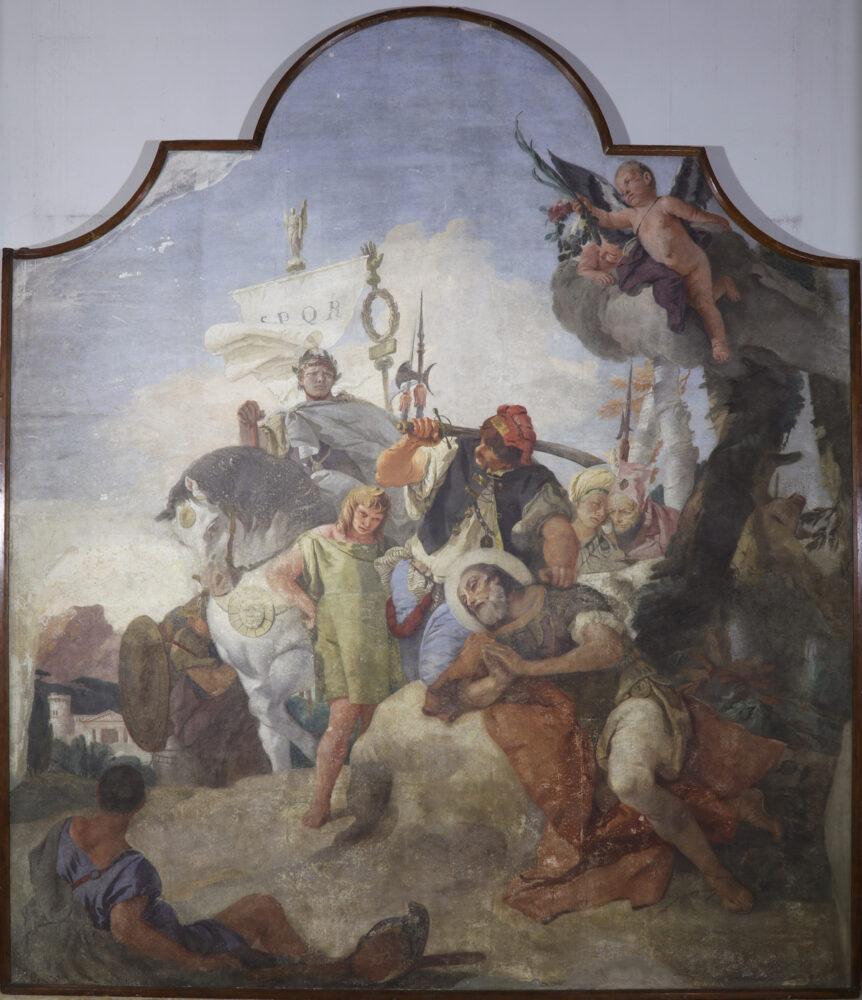 Giambattista Tiepolo Martirio di san Vittore, 1737 Affresco staccato e riportato su tela, 360 x 290 x 5 cm Milano, Basilica di Sant'Ambrogio