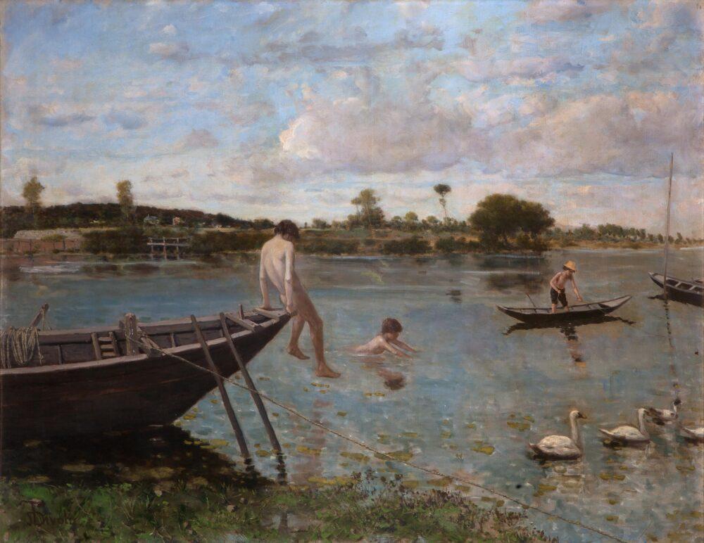 S.De Tivoli_L'antica pescaia a Bougival_1877-1878_Olio su tela, cm. 89,5x116_Collezione privata