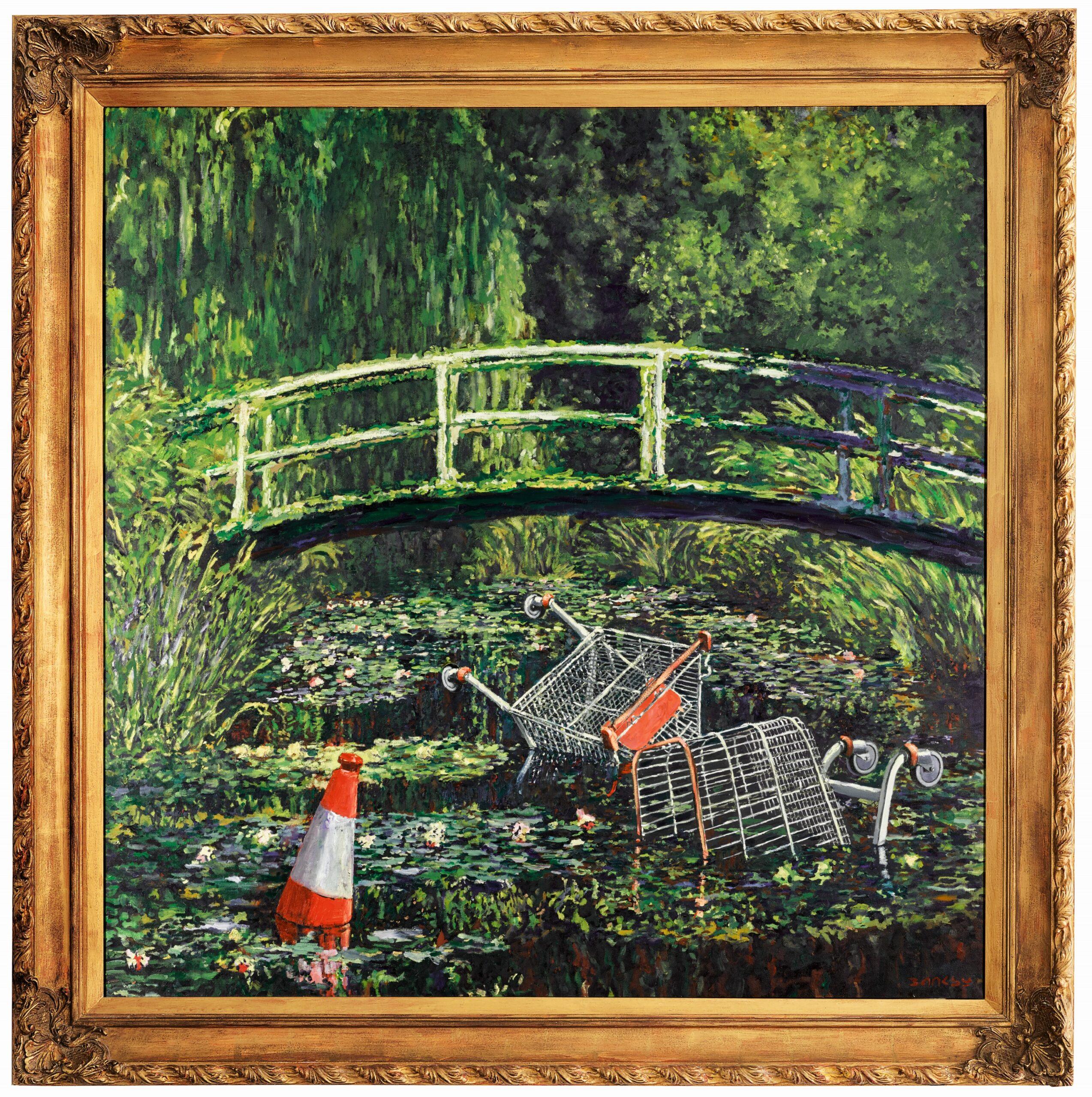 La versione di Banksy. Con 'Show me the Monet' torna sotto i riflettori di Sotheby's il 21 ottobre