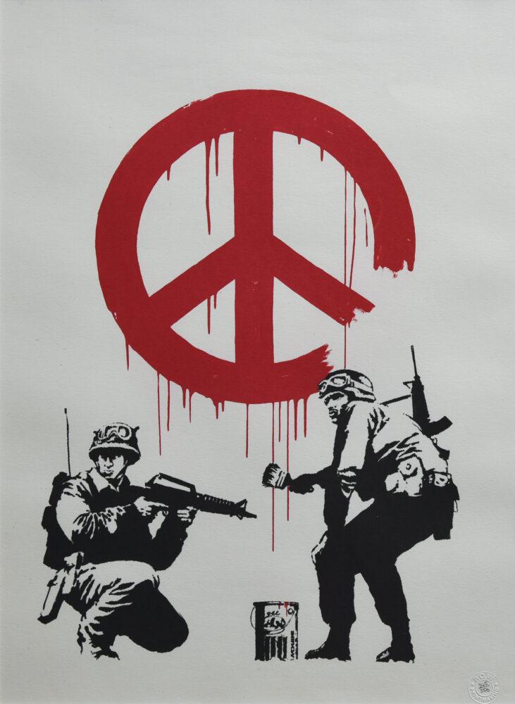 """Banksy- CND Soldiers"""", 2007, serigrafia su carta, screenprint on paper, Collezione privata, Private collection"""