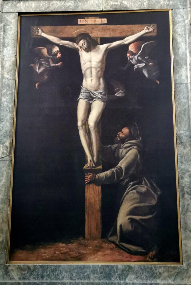 Dono Doni, Crocifisso adorato da San Francesco, a Bevagna