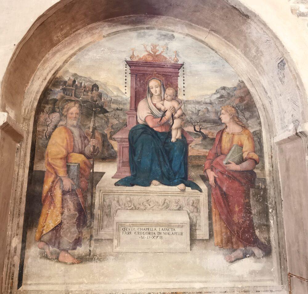 Giovan Battista Caporali, Madonna con la cintola, a Montefalco