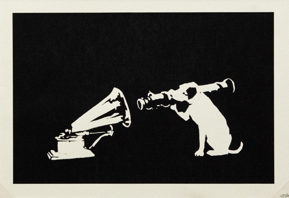 "Banksy - HMV"", 2004, serigrafia su carta, screenprint on paper, Artrust"