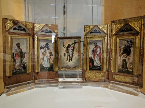 I cinque dipinti a olio su tavola di El Greco nel Museo di Bettona