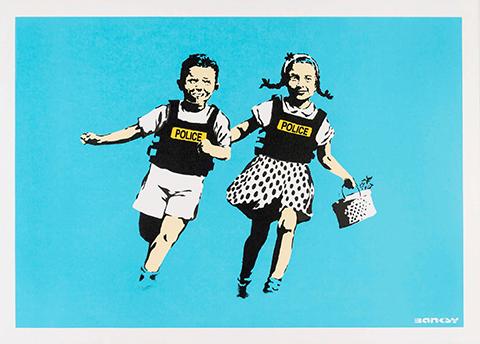 """Banksy - ack & Jill, 2005"""", serigrafia su carta, screenprint on paper, Collezione privata, Private collection"""