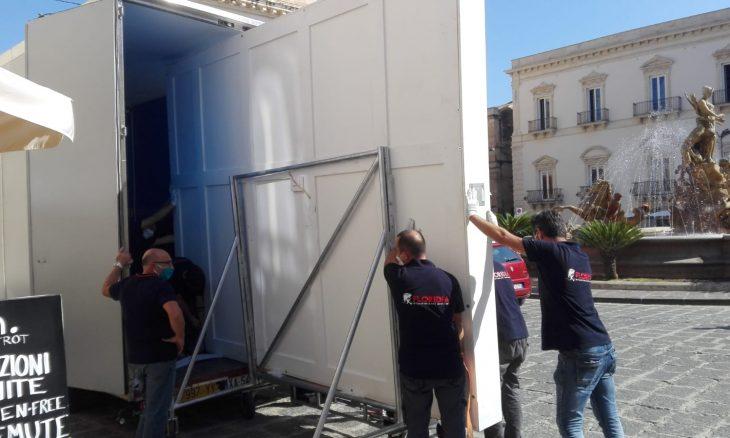 La partenza del Caravaggio da Siracusa (foto siracusaoggi.it)
