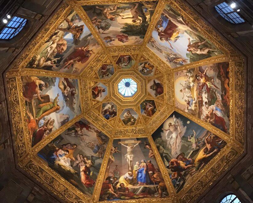 La volta della Cappella dei Principi a San Lorenzo, a Firenze