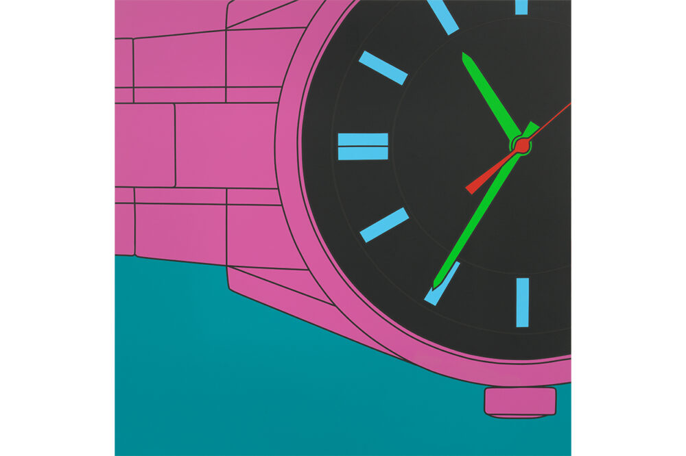 Michael Craig-Martin Untitled (watch fragment turquoise), 2019