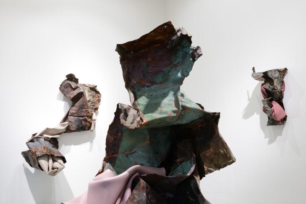 KENNEDY YANKO. Because it's in my blood, 2020. Installation view at Galleria Poggiali, Milan. Photo Michele Sereni. Courtesy Galleria Poggiali