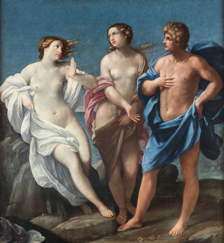 Lotto 80 - Guido Reni (bottega), Bacco e Arianna, olio su tela, cm 166x152. Stima 6.000-12.000 euro