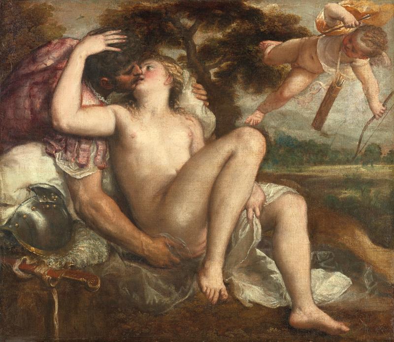 Tiziano, Marte Venere e Amore, Kunsthistorisches Museum Vienna