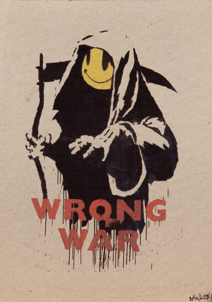 """ax Britannica (Wrong War)"""", 2004, serigrafia su carta, screenprint on paper, Collezione privata, Private collection"""