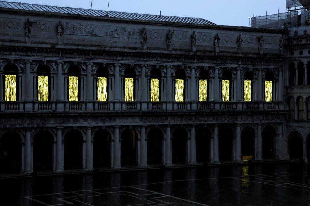 Fabrizio Plessi, L'età dell'oro, Museo Correr, Venezia, 2020. Ph. Claudio Franzini