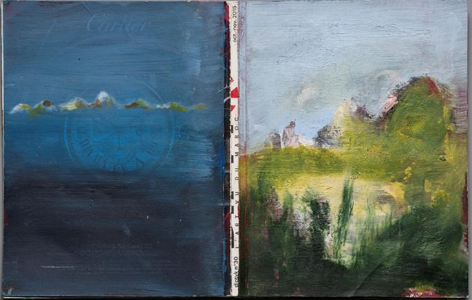 """Sudore e vento, salite e discese. Sul """"sentiero"""" dell'Appennino con la pittura di Bellobono, il libro"""