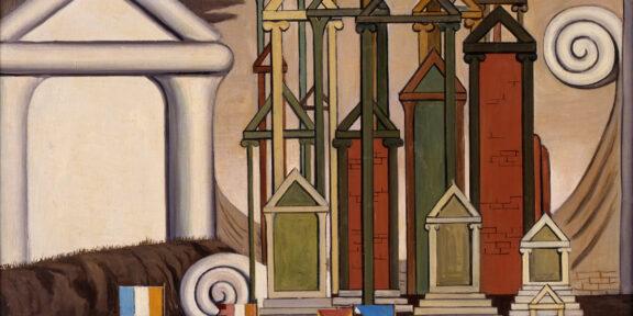 Giorgio de Chirico: Le Termopili, 1947, 50 x 60 cm, olio su tela. Galleria dello Scudo, Verona
