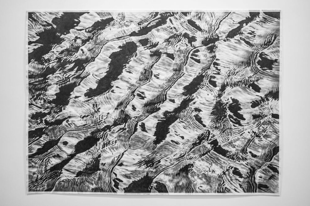 Riflessi di mare 2020 grafite su carta 144 x 200 cm 2020 graphite on paper 144 x 200 cm 55,11 x 78,74 in Courtesy: the artist and GALLERIA CONTINUA Photo by: Giovanni De Angelis