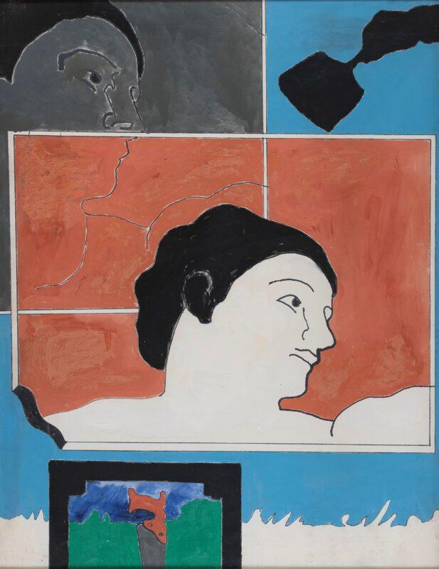 Olio e smalto su tela, cm. 117 x 90. Firma, data e titolo al retro. Stima 50.000-70.000 euro