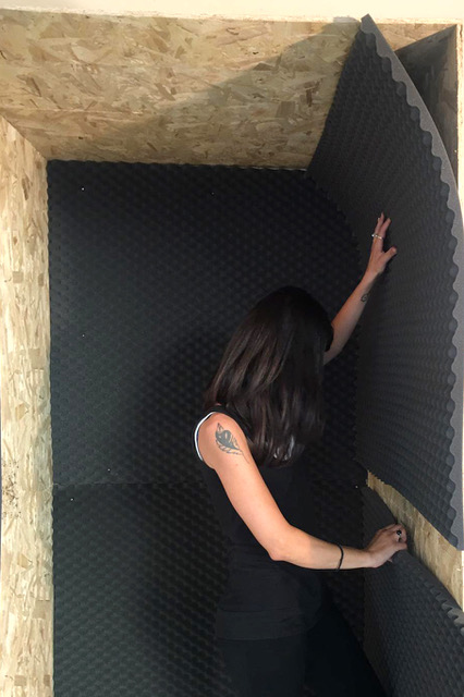 Sonia Andresano, Sconcerto, 2020, installazione sonora, Fourteen ArTellaro, allestimento 2