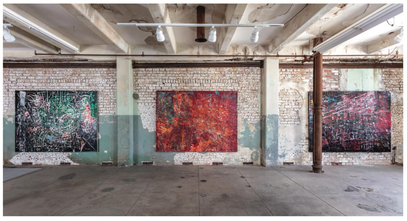 Imposizioni e desideri: i Quarantine Paintings di Mark Bradford in mostra da Hauser e Wirth