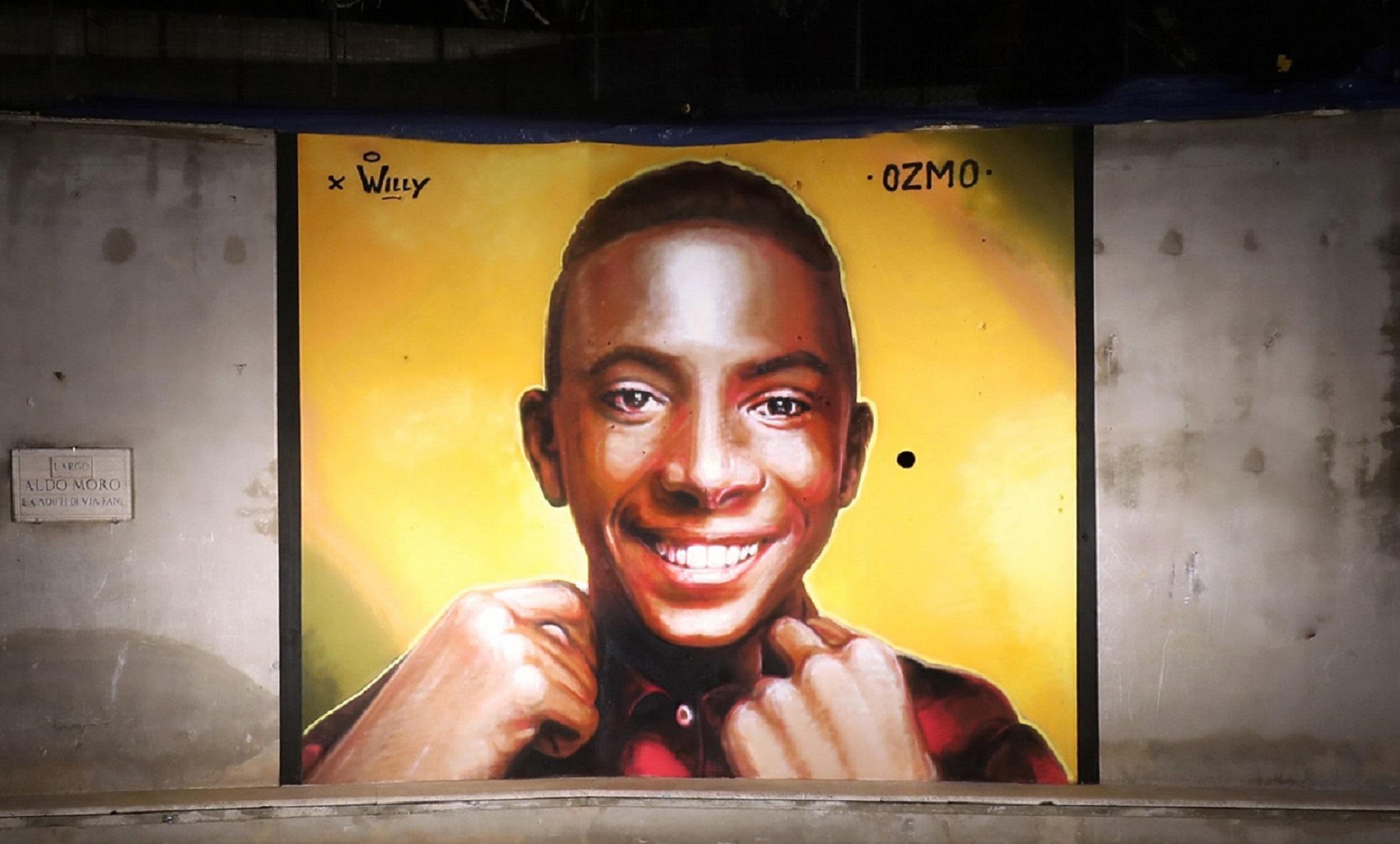 Per Willy. A Paliano, l'intenso murale di Ozmo dal forte valore simbolico