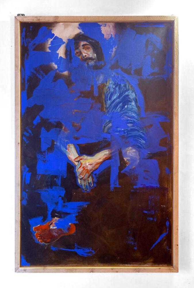 Cristo non è mai morto, 140x210cm, olio e bitume su tela, 2020