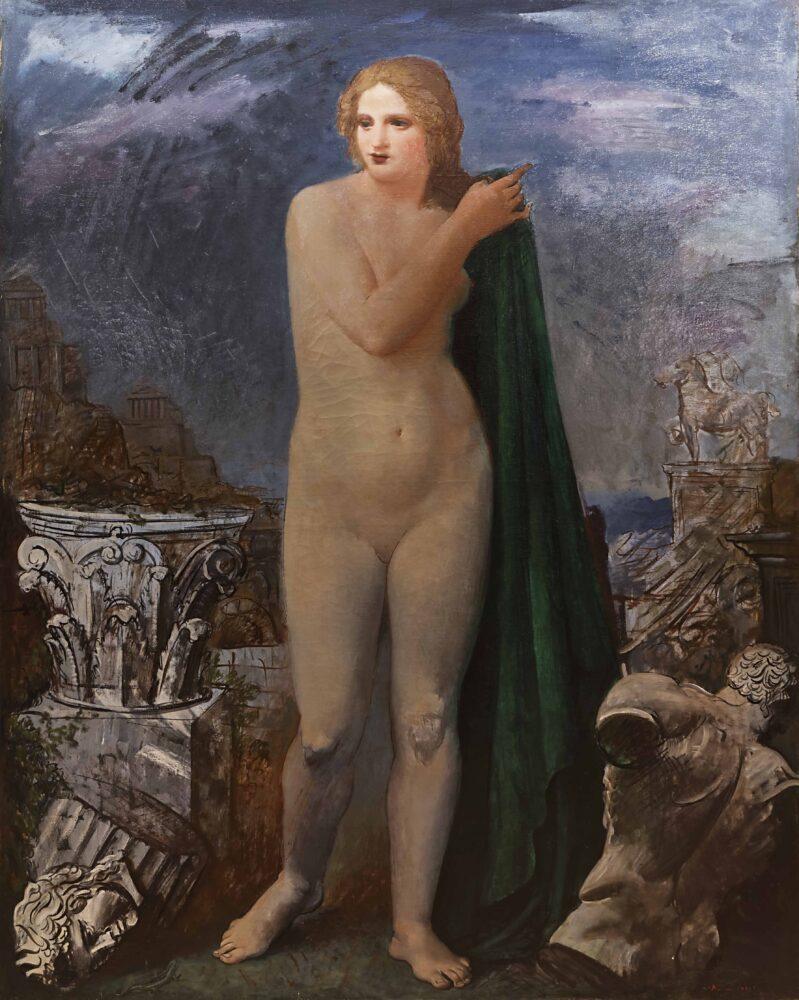 Achille Funi - Venere latina, 1930, olio su tela, cm 160 x 125, firmato e datato in basso a destra.j