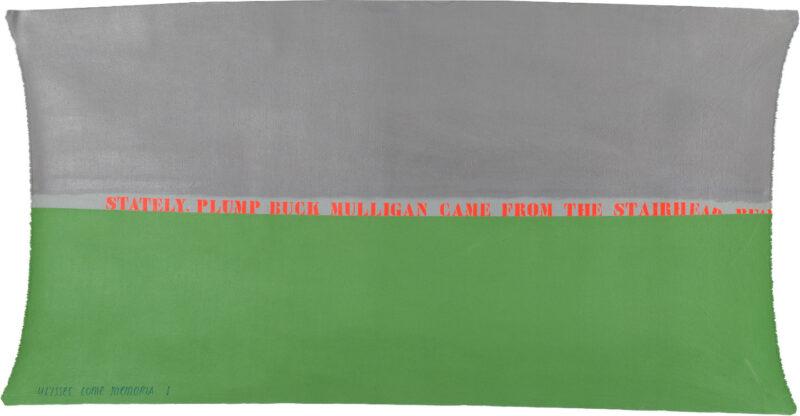 Cioni Carpi Ulysses as memory Palimpseste partiel, 1972 olio su tela, 80 x 155 cm collezione privata credito fotografico ©AlbertoMessina2020