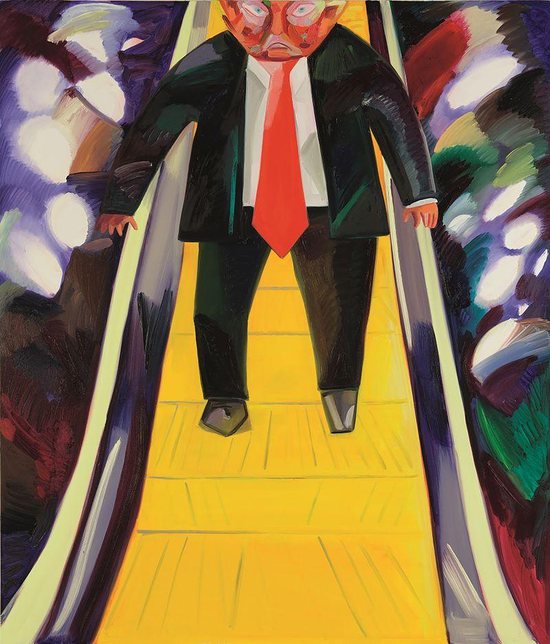 Trump Phillips Dana Schutz