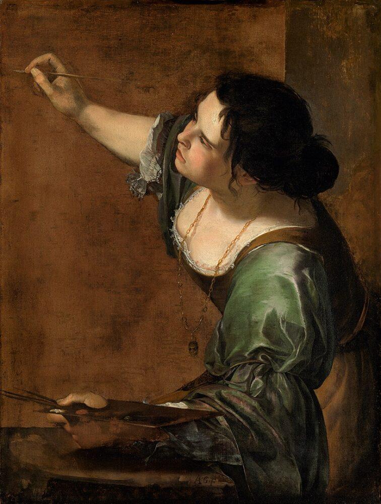 Artemisia Gentileschi, Autoritratto come allegoria della pittura, 1638-9, Royal Collection Trust
