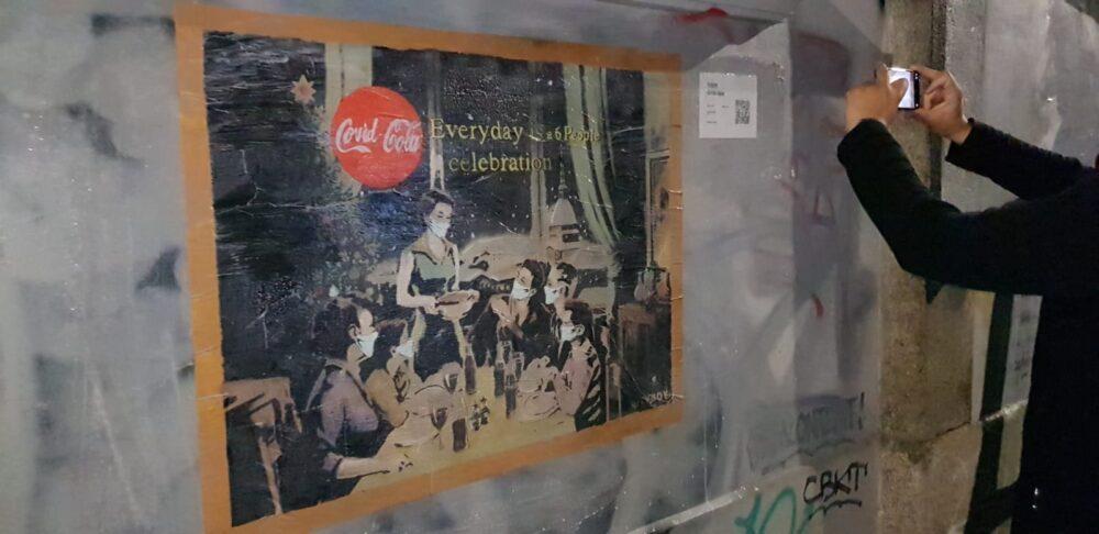 TvBoy in una parodia della pubblicità sulla coca cola