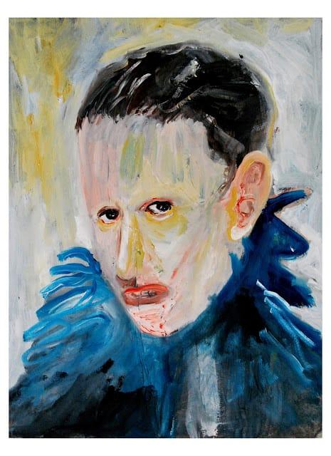 """Dario Carratta, """"La pelle dei loro sudditi"""", olio su tela, 70x100cm, 2017."""