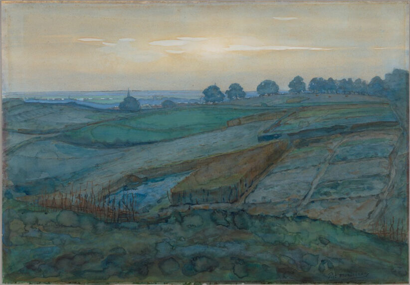 Landscape near Arnhem, 1900-01, di Piet Mondrian