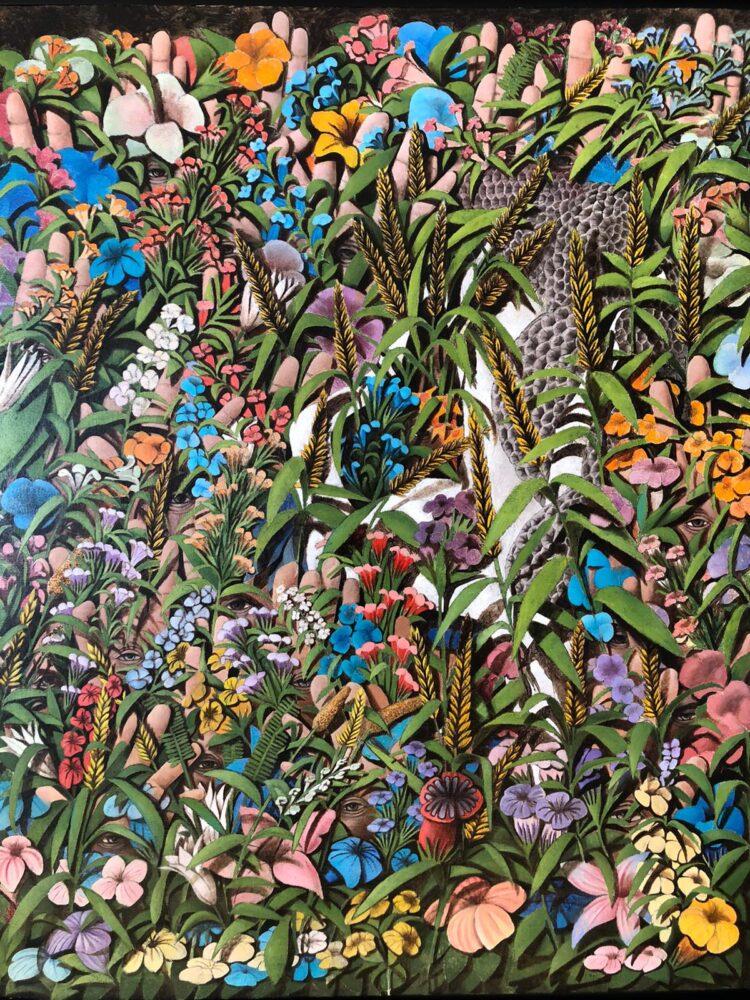 Marco Ercoli, Hortus Conclusus, olio su tela, 100x80, 2019, coutesy l'artista