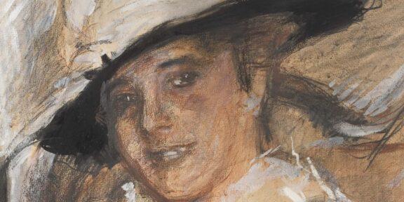 Mario Sironi , Ritratto di Margherita Sarfatti, 1916-17, pastello e tempera su carta Collezione Margherita Sarfatti
