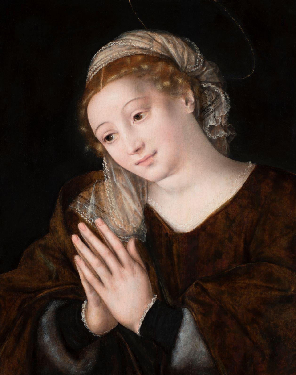 Una splendida Vergine Orante di Jan Massys acquistata dall'Abbazia di San Giorgio a Venezia