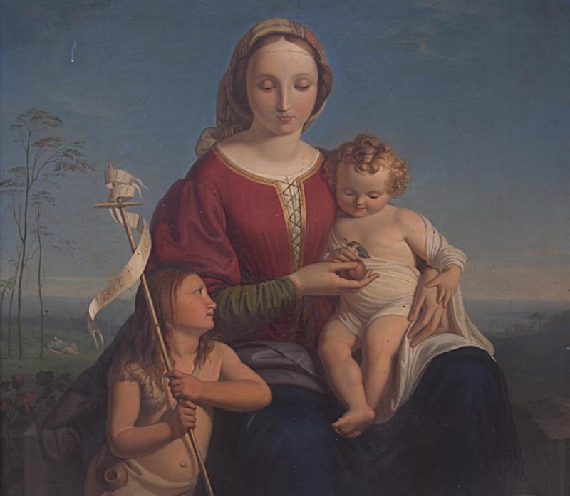 Lotto 12 (dettaglio) - Gabriele Rottini, Madonna con bambino, olio su tela cm 115x71,5. Stima 7.000-8.000. Partenza 2.500 euro