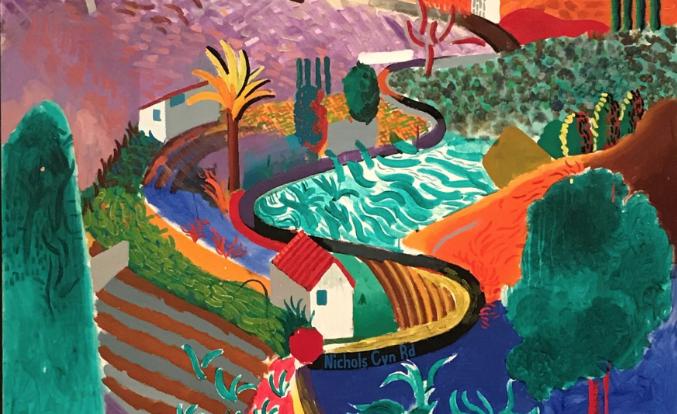 Un paesaggio californiano di David Hockney stima 35 milioni di dollari da Phillips
