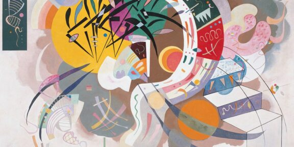 Kandinsky Dominant Curve (Courbe dominante) April 1936 Oil on canvas, 129.2 × 194.3 cm Solomon R. Guggenheim Museum, New York, Solomon R. Guggenheim Founding Collection 45.989 © Vasily Kandinsky, VEGAP, Bilbao, 2020