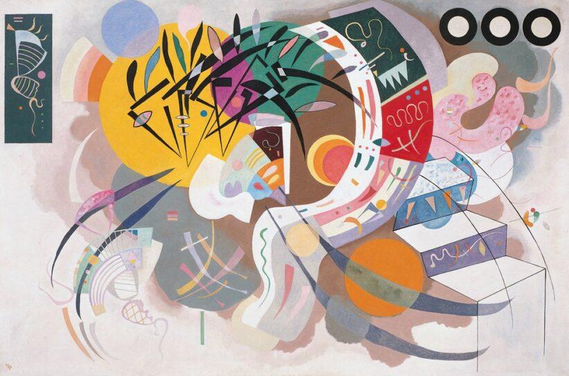 Kandinsky Dominant Curve (Courbe dominante) April 1936 Oil on canvas, 129.2 × 194.3 cm Solomon R. Guggenheim Museum, New York, Solomon R. Guggenheim Founding Collection 45.989 © Vasily Kandinsky, VEGAP, Bilbao, 2020
