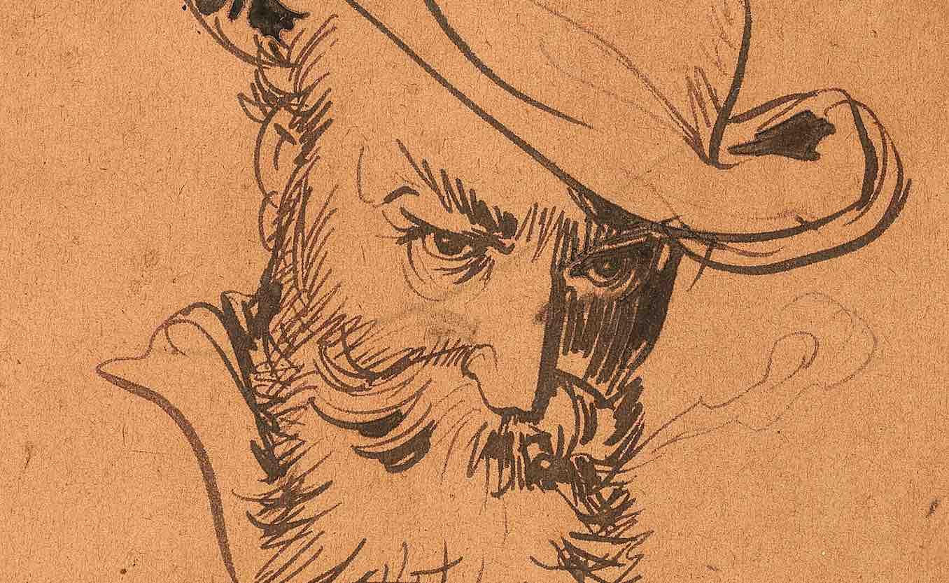 L'autoritratto perduto. Un disegno dell'umorista Wilhelm Busch in asta da Dorotheum