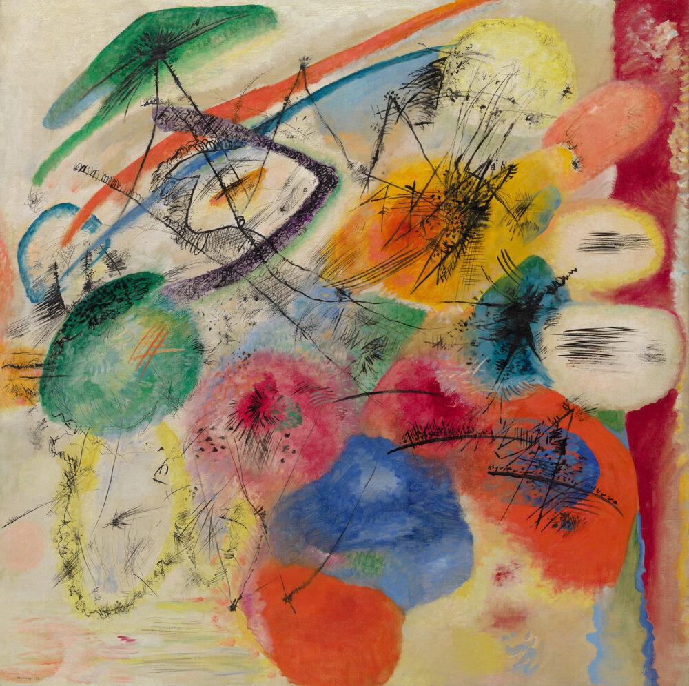 Kandinsky Black Lines (Schwarze Linien) December 1913 Oil on canvas 130.5 × 131.1 cm Solomon R. Guggenheim Museum, New York, Solomon R. Guggenheim Founding Collection, By gift 37.241 © Vasily Kandinsky, VEGAP, Bilbao, 2020