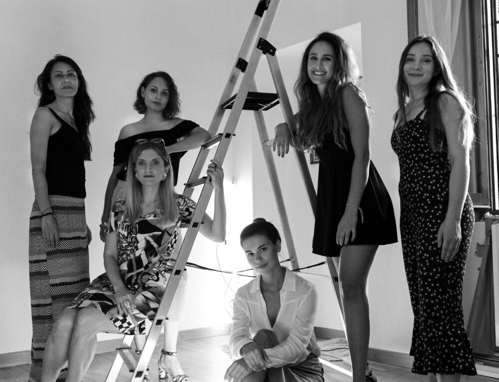 Da sx a dx: Maria Myasnikova, Maria Ryseva, Maryna Rybakova, Elisabetta Roncati, Tuguana Perk, Laura Pieri