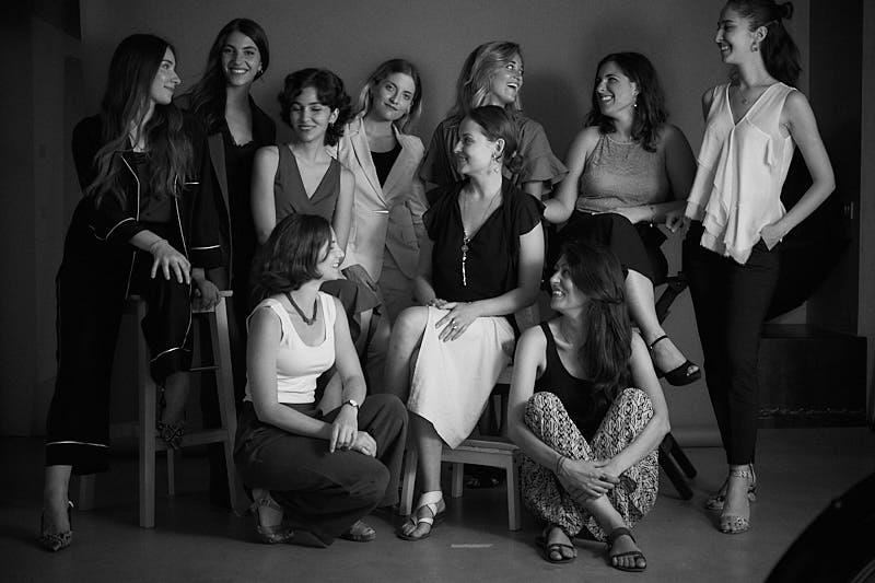 Back: Maryna Rybakova, Paola Shiamtani, Pelin Zeytinci, Elisabetta Roncati, Maria Myasnikova, Beatrice Dezani, Antonella Spanu, Gohar Avetisyan Front:Bianca Munari, Laura Pieri