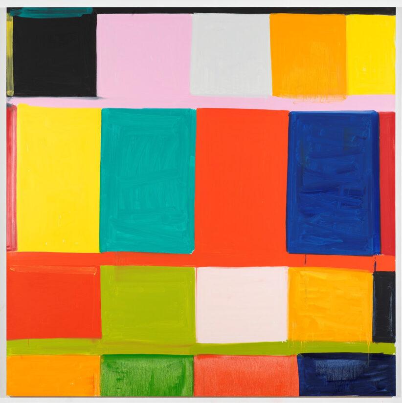 Stanley Whitney, That's Rome, 2019, olio su lino, 243.8 × 243.8 cm © Stanley Whitney