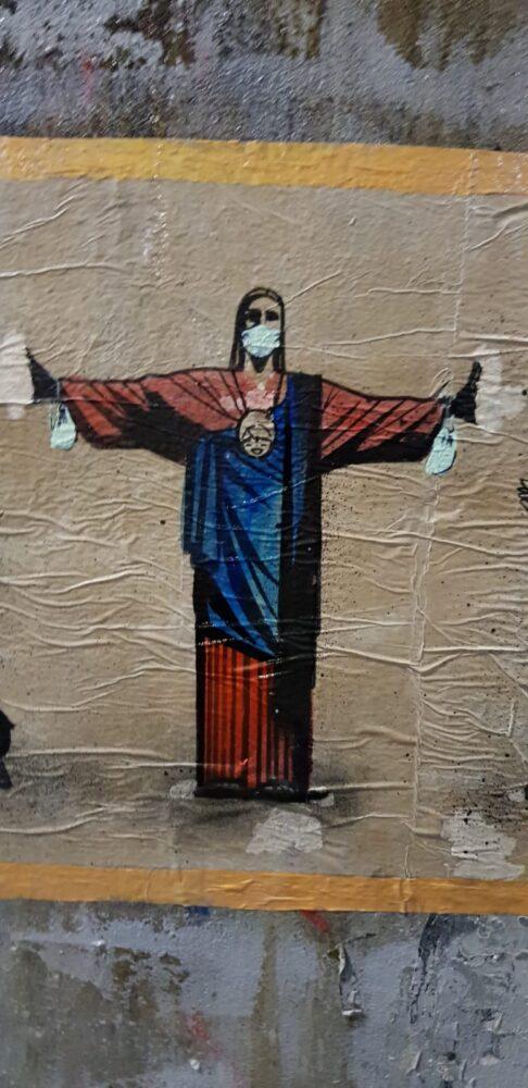 Gesù con la mascherina