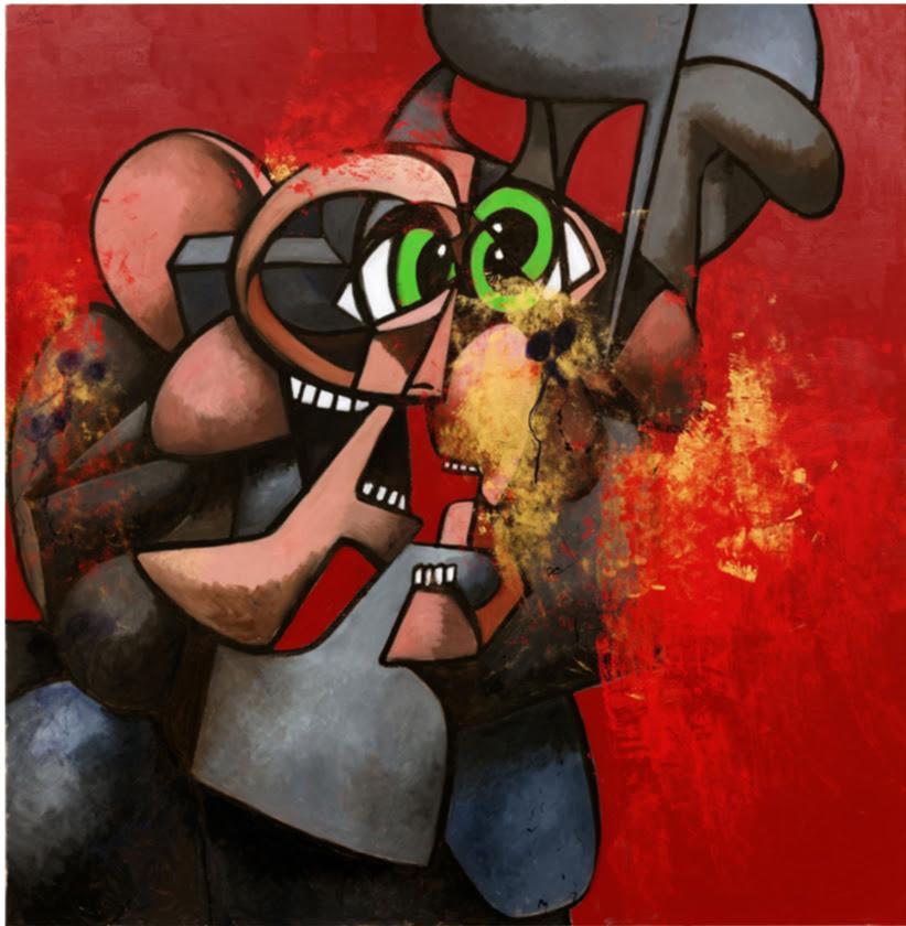 Sommossa interiore: la nuova esposizione di George Condo a NYC