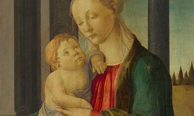 Sandro Botticelli, Madonna e Bambino(1470), che ha caratteristiche in comune con la versione scomparsa del 1485