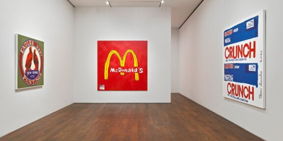 Tom Sachs Acquavella Eagles Nest, 2020; McDonald's, 2020; Crunch, 2020