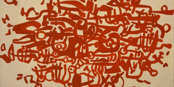 Mazzoleni dicembre 2020 Carla Accardi, Labirinto rosso, 1955