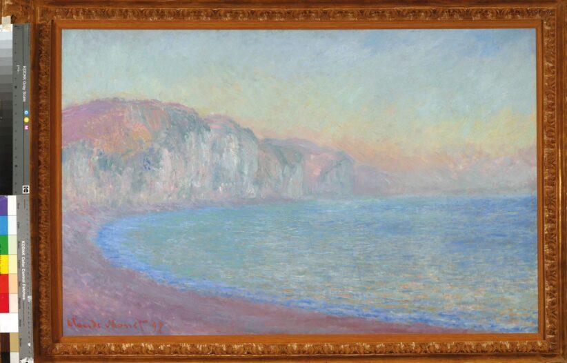 Claude Monet Falaises à Pourville soleil levant 1897 olio su tela Credit Archivio Fotografico Fondazione MagnaniRocca